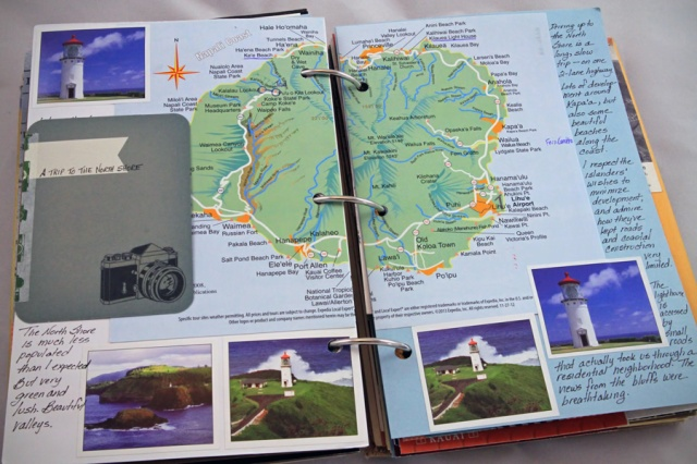 travel map, stickers and some notes