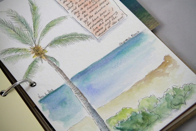 another quick watercolor, along the beach
